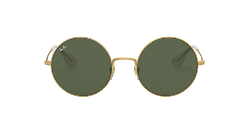 Ray Ban - RB3592 Rubber Gold/Dark Green Round Women Sunglasses - 50mm