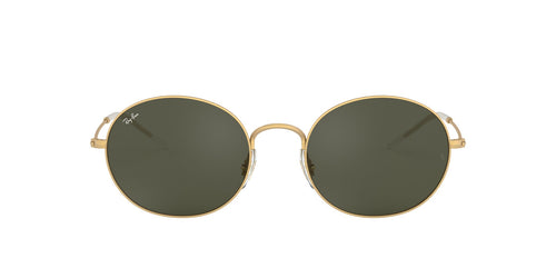 Ray Ban - RB3594 Rubber Gold Oval Unisex Sunglasses - 53mm