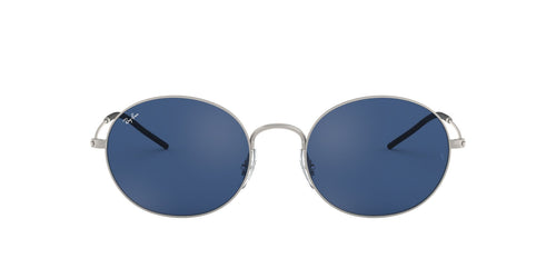 Ray Ban - Beat Rubber Silver/Dark Blue Oval Unisex Sunglasses - 53mm