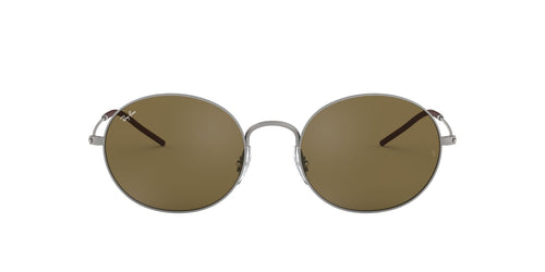 Ray Ban - Beat Rubber Gunmetal/Dark Brown Oval Unisex Sunglasses - 53mm