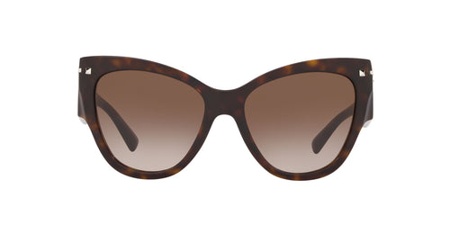 Valentino - VA4028 Havana/Gradient Brown Cat Eye Women Sunglasses - 55mm