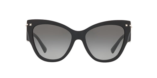 Valentino - VA4028 Black/Grey Gradient Cat Eye Women Sunglasses - 55mm