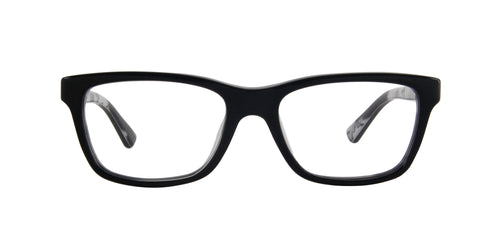 Ray Ban Rx - 0RY1528 Black On Texture Grey Black Square Unisex Eyeglasses - 48mm