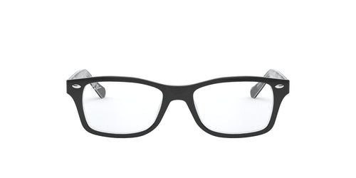 Ray Ban Jr - RY1531 Black On Texture Grey Black Square Unisex Eyeglasses - 46mm
