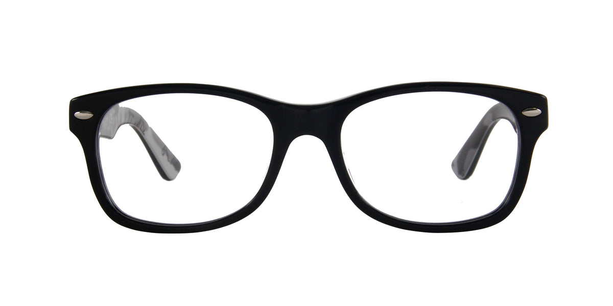 Ray Ban Jr - RY1536 Black On Texture Grey Black Square Kids Eyeglasses - 48mm