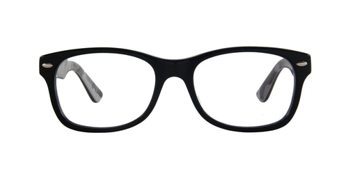 Ray Ban Rx - 0RY1536 Black On Texture Grey Black Square Unisex Eyeglasses - 48mm