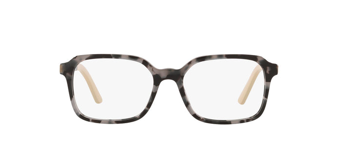 Prada - PR03XV Grey Havana/Demo Lens Square Women Eyeglasses - 53mm