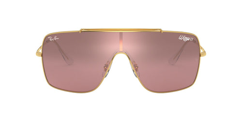 Ray Ban - RB3697 Gold Square Men Sunglasses - 35mm