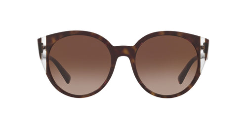 Valentino - VA4038 Havana Crystal/Brown Gradient Round Women Sunglasses - 55mm
