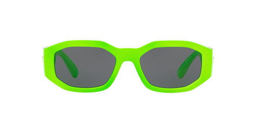 Versace - VE4361 Green Fluo Irregular Unisex Sunglasses - 53mm
