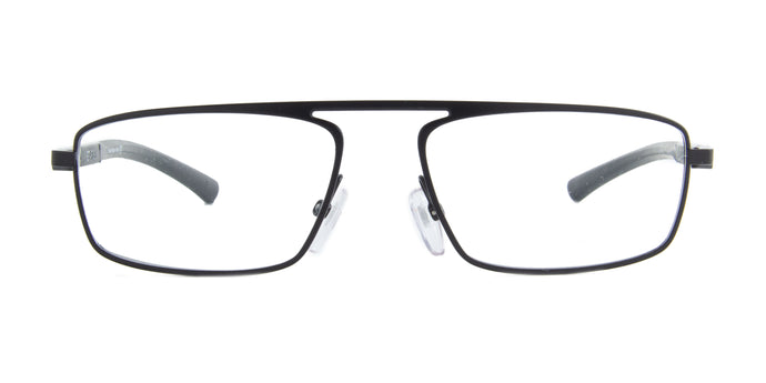 Starck - SH2045 Matt Black Rectangular Men Eyeglasses - 55mm