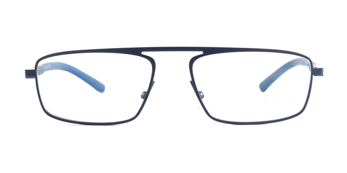 Starck - SH2045 Matt Blue Rectangular Men Eyeglasses - 55mm
