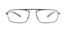 Starck - SH2045 Matt Brown Rectangular Men Eyeglasses - 55mm