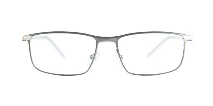 Starck - SH2047 Dark Gunmetal Silver Rectangular Men Eyeglasses - 56mm