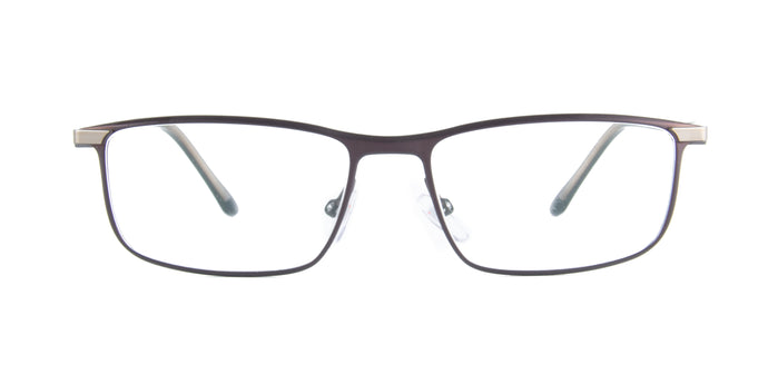 Starck - SH2047 Brown Light Brown Rectangular Men Eyeglasses - 56mm