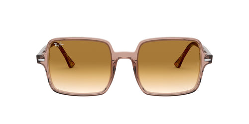 Ray Ban - RB1973 Trasparent Light Brown Square Women Sunglasses - 53mm