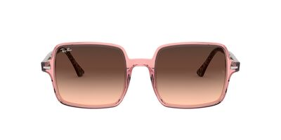 Ray Ban - RB1973 Trasparent Pink Square Women Sunglasses - 53mm
