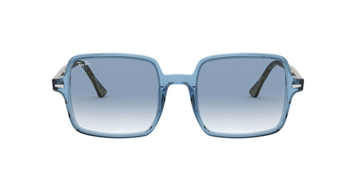 Ray Ban - RB1973 Trasparent Light Blue Square Women Sunglasses - 53mm