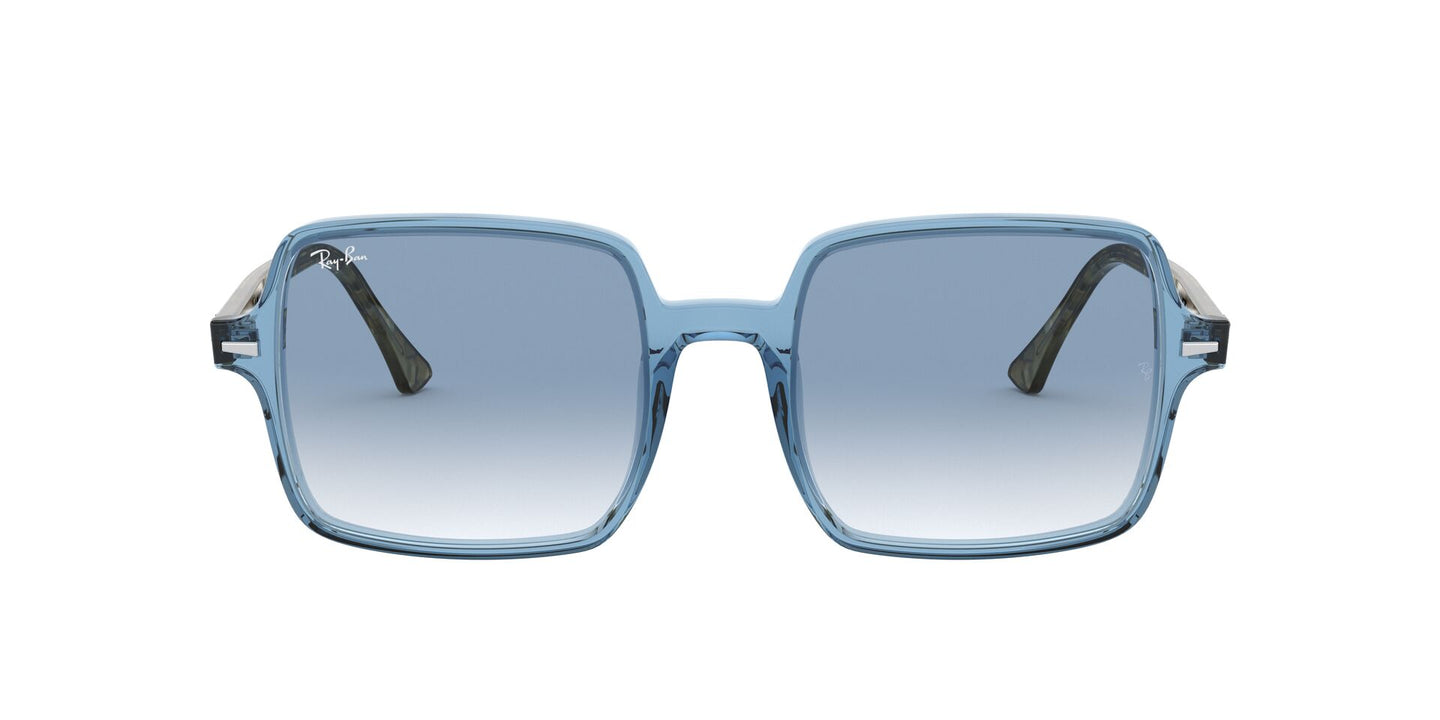 Ray Ban - RB1973 Trasparent Light Blue/Clear  Blue Gradient Square Women Sunglasses - 53mm