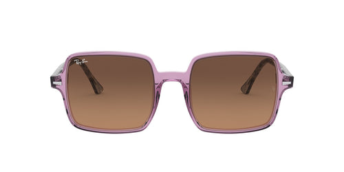Ray Ban - RB1973 Trasparent Violet Square Women Sunglasses - 53mm