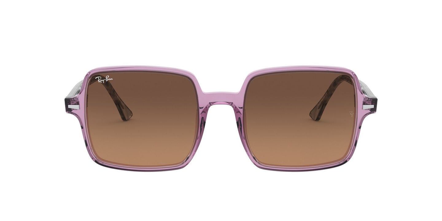 Ray Ban - Square II Trasparent Violet/Light Brown  Black Gradient Square Women Sunglasses - 53mm