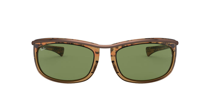 Ray Ban - Olympian I Gradient Havana Brown/Green Oval Unisex Sunglasses - 62mm