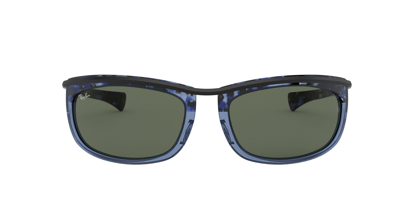 Ray Ban - RB2319 Gradient Havana Blue Oval Unisex Sunglasses - 62mm