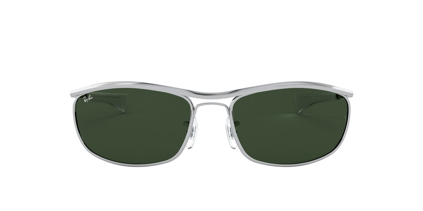 Ray Ban - Olympian I Deluxe Silver/Green Wrap Unisex Sunglasses - 62mm