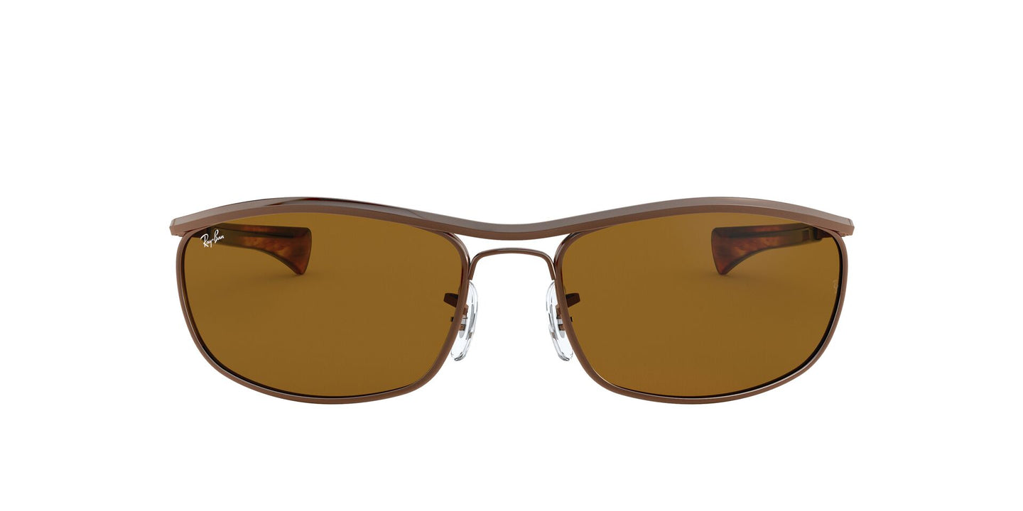 Ray Ban - Olympian I Deluxe Brown/Brown Wrap Unisex Sunglasses - 62mm