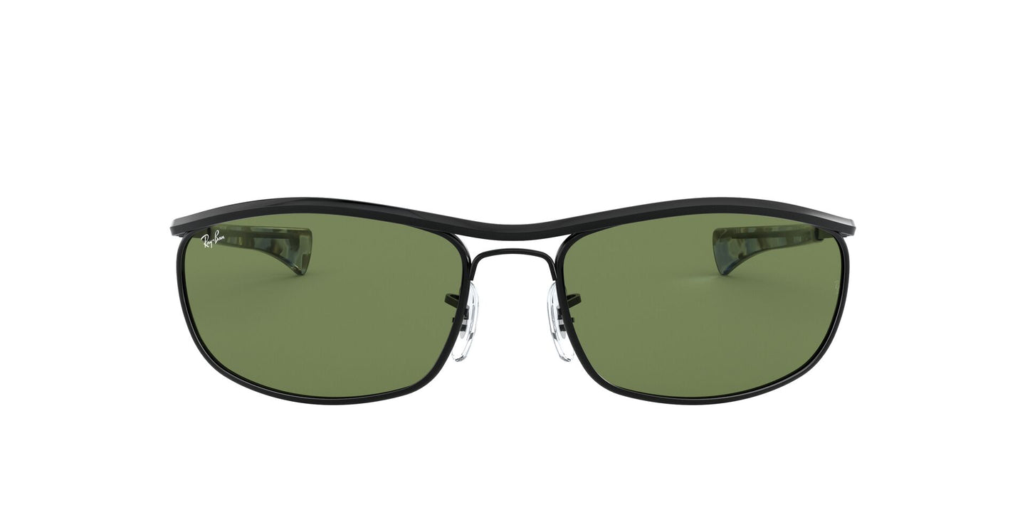 Ray Ban - Olympian I Deluxe Black/Green Wrap Unisex Sunglasses - 62mm