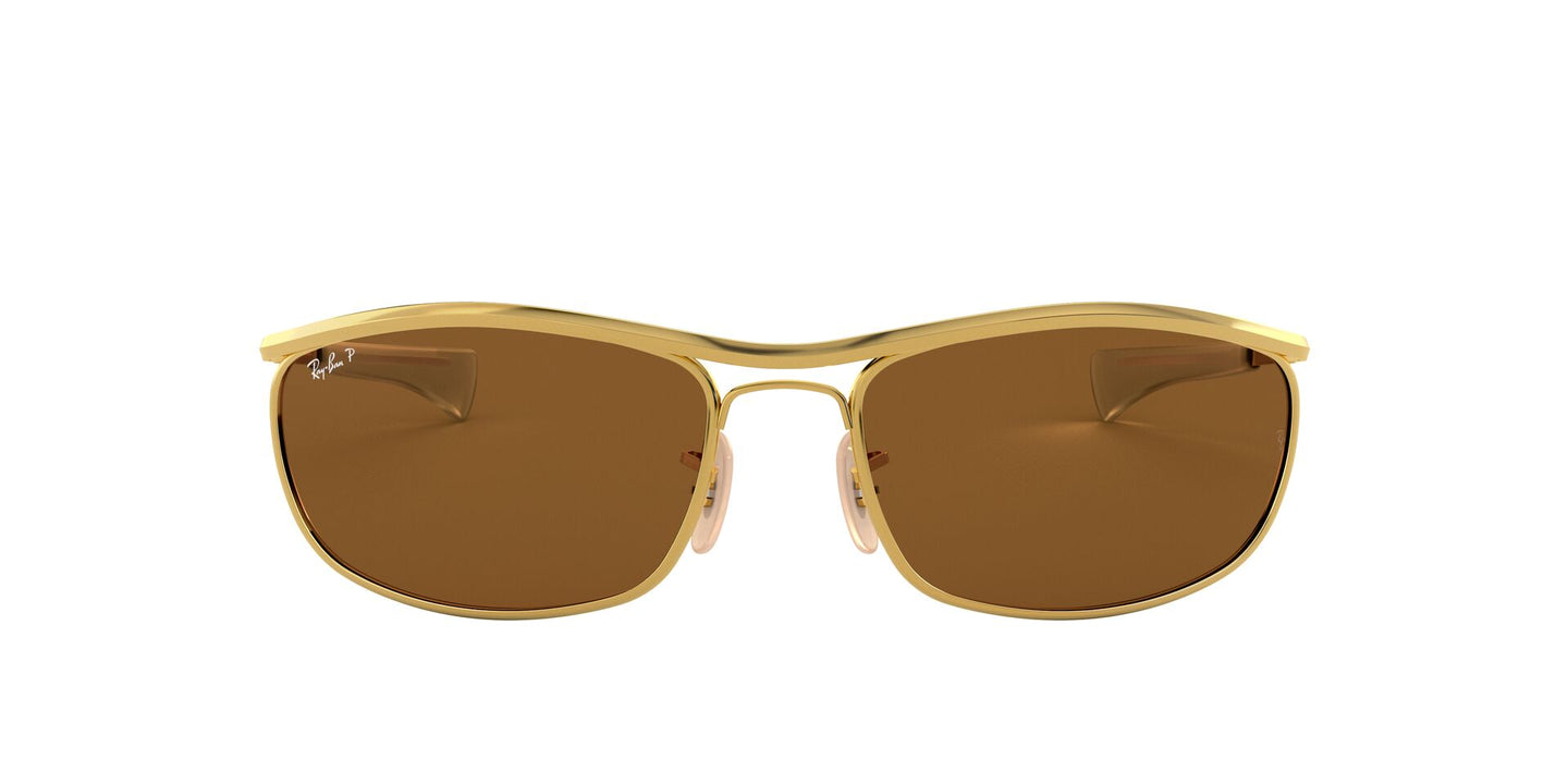 Ray Ban - Olympian I Deluxe Gold/Brown Polarized Polarized Wrap Unisex Sunglasses - 62mm