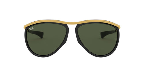 Ray Ban - Olympian Aviator Black/Green Unisex Sunglasses - 59mm