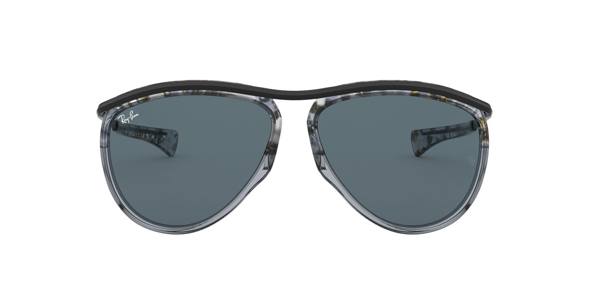 Ray Ban - RB2219 Gradient Havana Grey/Blue Aviator Unisex Sunglasses - 59mm
