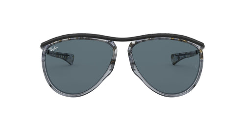 Ray Ban - RB2219 Gradient Havana Grey Aviator Unisex Sunglasses - 59mm