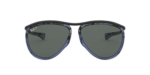 Ray Ban - RB2219 Gradient Havana Blue Aviator Unisex Sunglasses - 59mm