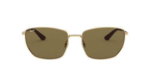Ray Ban - RB3653 Gold Square Men Sunglasses - 60mm