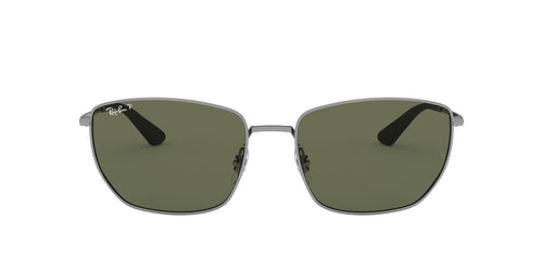 Ray Ban - RB3653 Gunmetal Square Men Sunglasses - 60mm