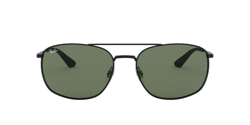 Ray Ban - RB3654 Black Square Men Sunglasses - 60mm