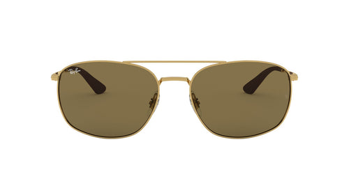 Ray Ban - RB3654 Gold Square Men Sunglasses - 60mm