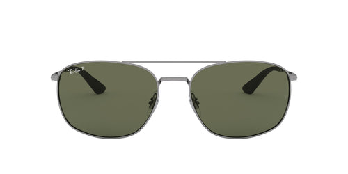 Ray Ban - RB3654 Gunmetal Square Men Sunglasses - 60mm