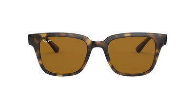 Ray Ban - RB4323 Havana/Brown Square Unisex Sunglasses - 51mm
