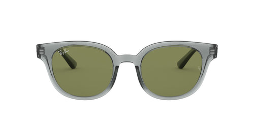 Ray Ban - RB4324 Trasparent Grey/Green Square Unisex Sunglasses - 50mm