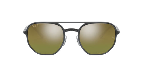 Ray Ban - Chromance Trasparent Dark Grey Square Unisex Sunglasses - 53mm