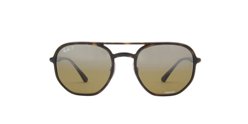 Ray Ban - Chromance Havana/Brown/Grey Polarized Square Unisex Sunglasses - 53mm