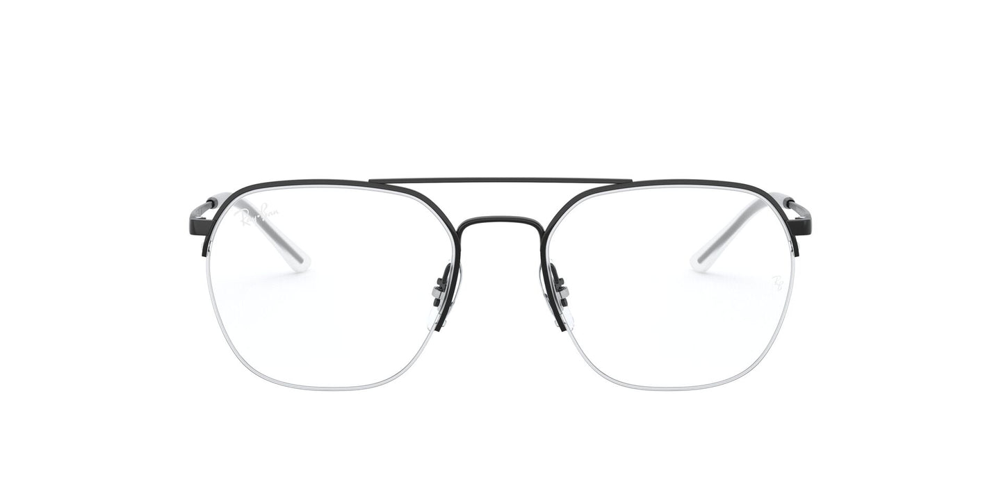 Ray Ban Rx - RX6444 Black Square Unisex Eyeglasses - 53mm