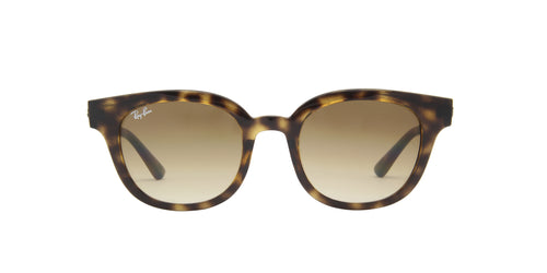 Ray Ban - Low Bridge Fit Havana Square Unisex Sunglasses - 50mm