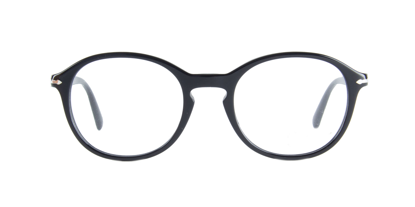 Persol - PO3239V Black Oval Men Eyeglasses - 50mm