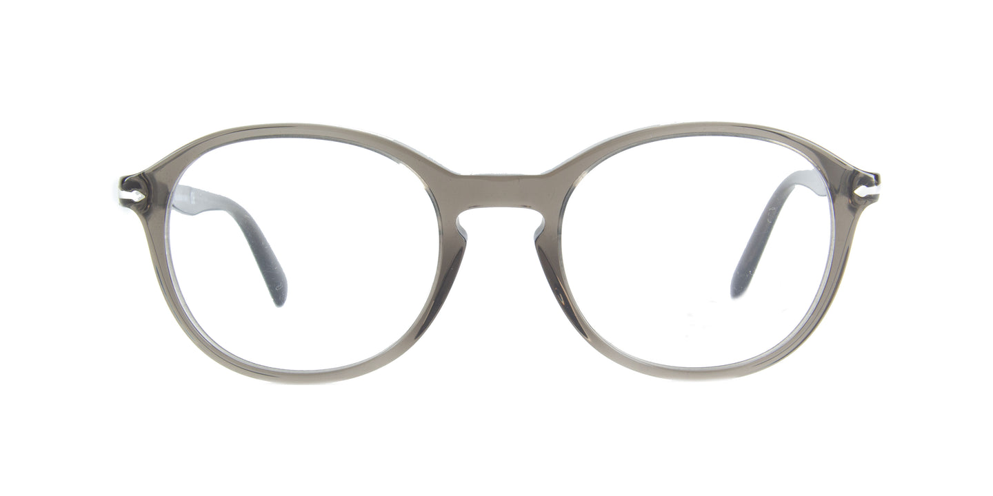 Persol - PO3239V Opal Smoke Oval Men Eyeglasses - 50mm