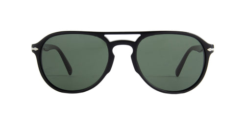 Persol - PO3235S Black Aviator Men Sunglasses - 55mm
