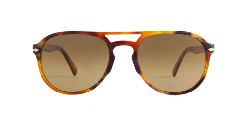 Persol - PO3235S Tortoise Brown Aviator Men Sunglasses - 55mm